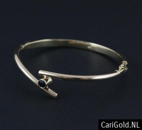 CariGold_nl_armband_14K_goud_diamant_saffier_AB003