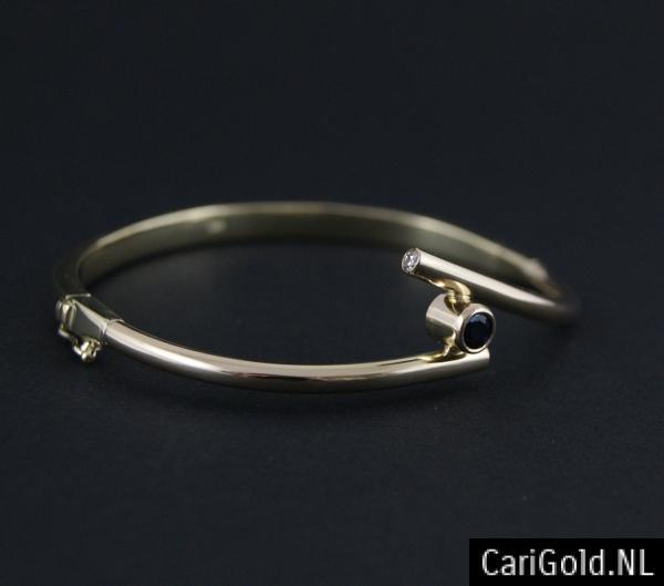 CariGold_nl_armband_14K_goud_diamant_saffier_AB003A