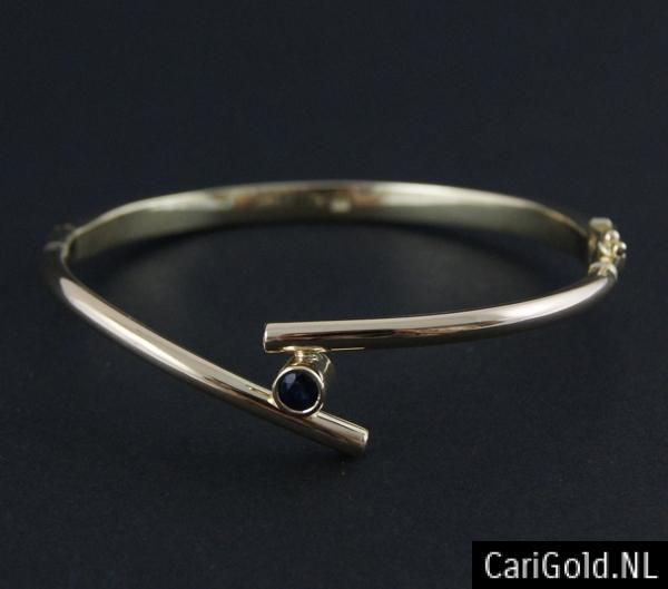CariGold_nl_armband_14K_goud_diamant_saffier_AB003B